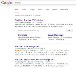 GoogleSearchFileZilla