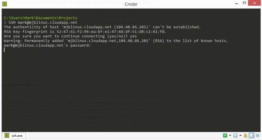 Running Linux Desktops in Azure | mark j brown